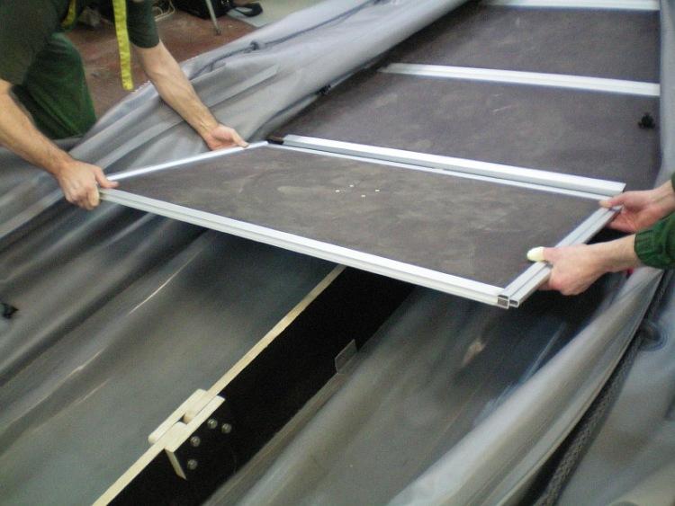 изготовить киль для лодки пвх