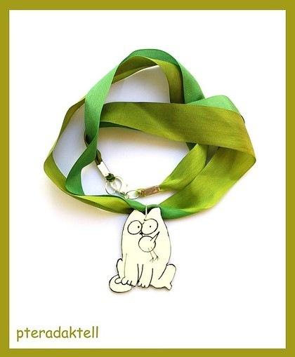 Кулоны, подвески ручной работы.  Ярмарка Мастеров - ручная работа Кулон кот Саймона и птичка.  Handmade.