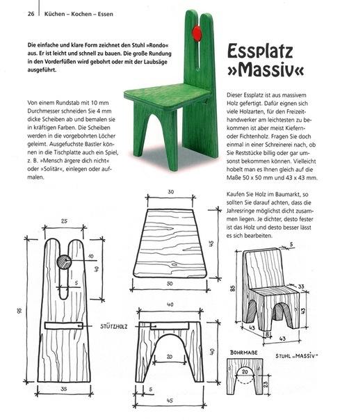 Мебель для кукол из дерева схемы