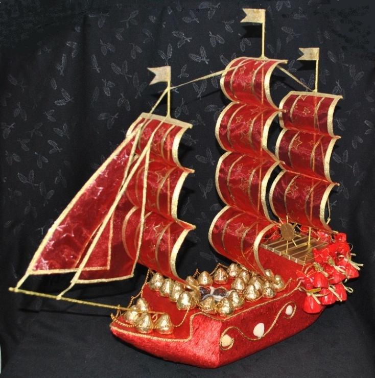 Своими руками парус для корабля с конфетами 67