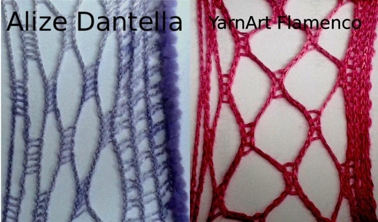Вязание шарфа из ниток 72