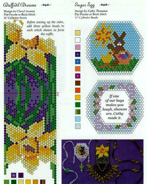 Схемы для вязания сумочек из бисера