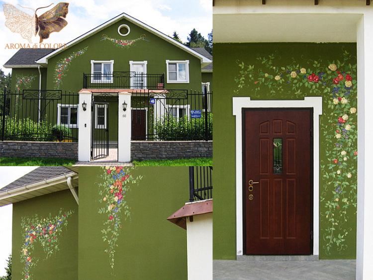 Расписать фасад дома своими руками