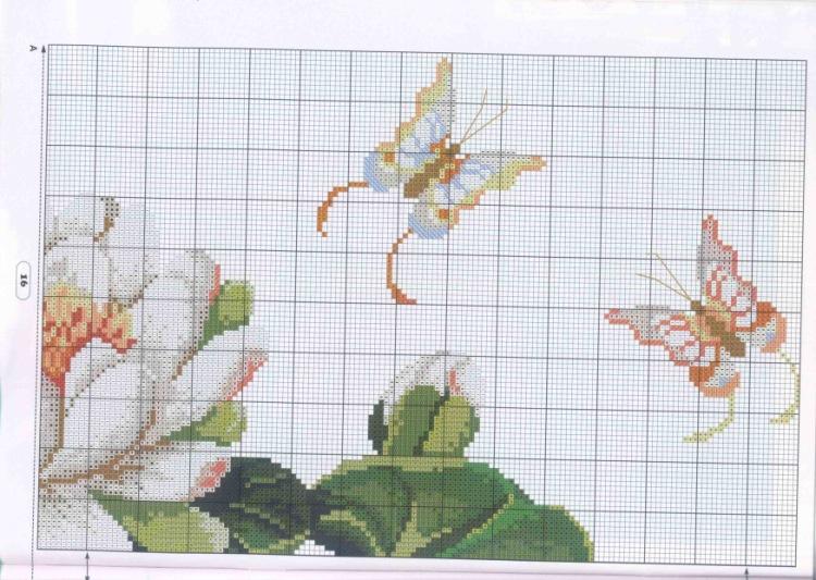 Схемы вышивки крестом кувшинок 282