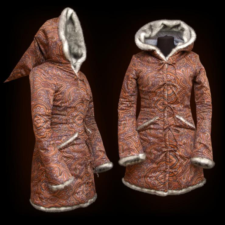 Очень тёплое пальто на зиму на стёганой подкладке, утеплённо...