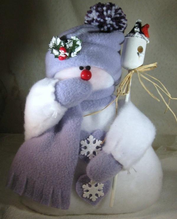 Объемный большой снеговик своими руками 139