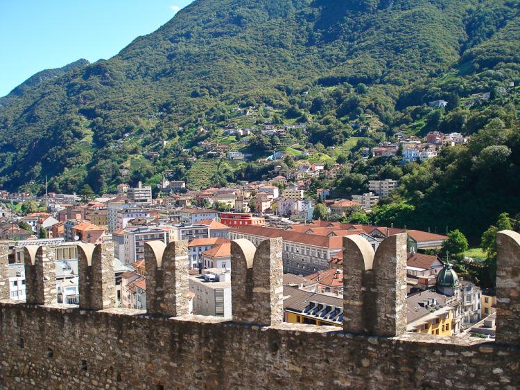 Итальянская Швейцария крепость