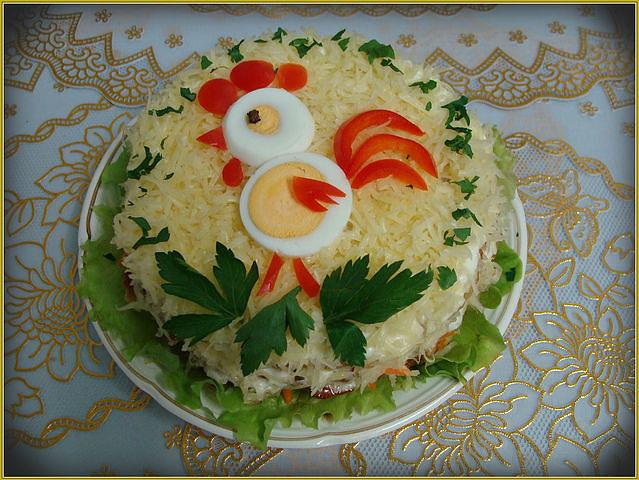 Фото украшение салатов своими руками