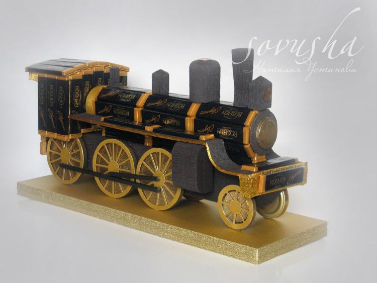 Поезд из конфет мастер класс с пошаговым 146