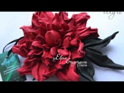 1. Каждый ученик получает выкройку розы 2. Вырезанные детали цветка из кожи 3. Мы научимся формовать кожу и придавать...