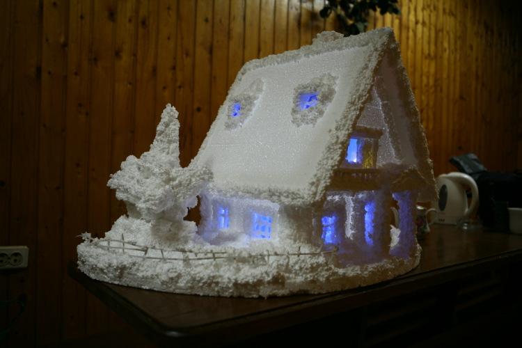 Поделка зимни домик своими руками фото