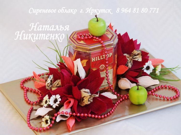 Букеты из конфет с чаем своими руками