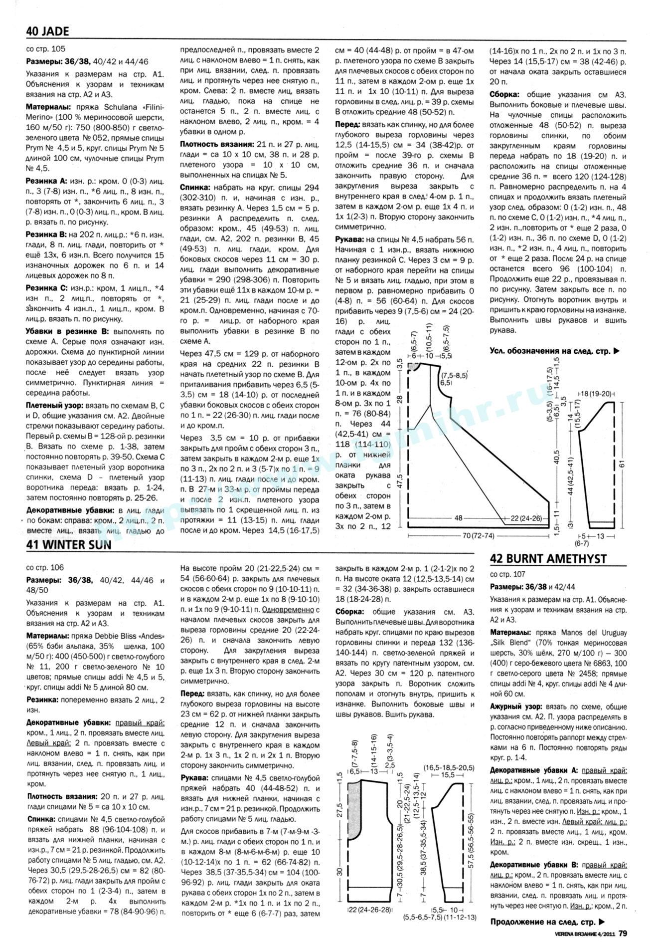Схема вязания туники спицами 8 фотография