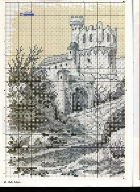 Вышивка крестом монохром пейзаж схемы 642