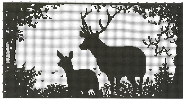 Вышивка крестом схемы черно белые силуэты 72