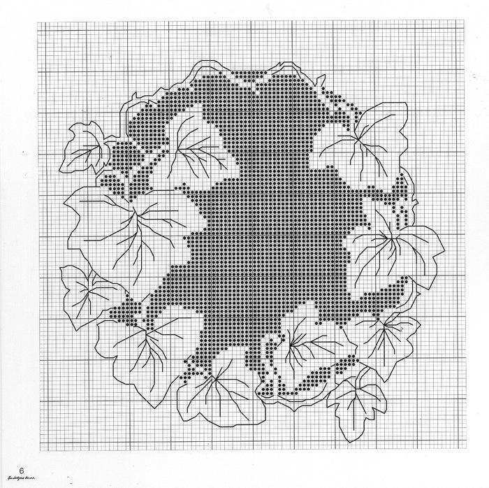 Монохромная вышивка крестом схемы фото - набор длЯ вышивки к.