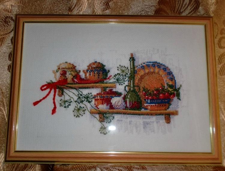 Вышивка крестом картин для кухни 62