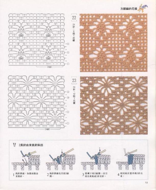 Каталог узоров для вязания спицами и крючком. Вязаные модели