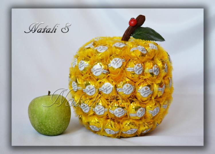 Как сделать из конфет фрукты своими руками  720