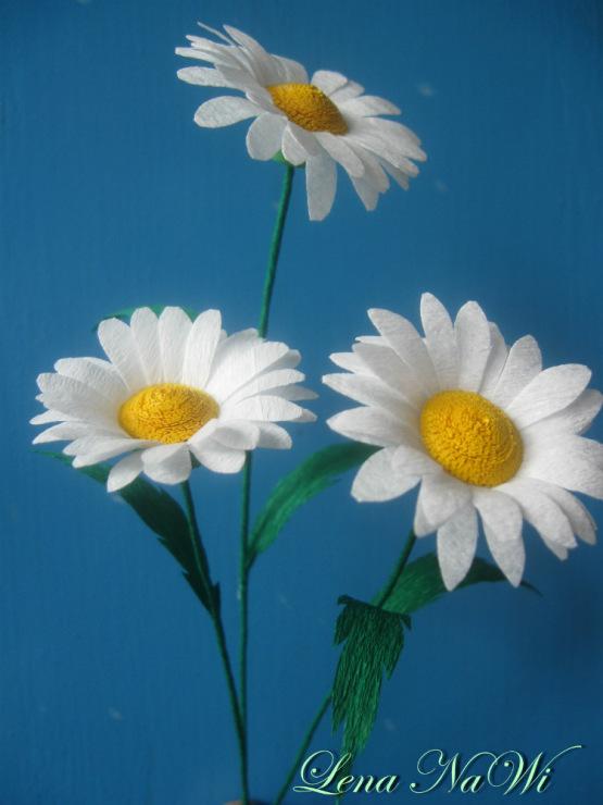 Поделки своими руками из бумаги цветы ромашки