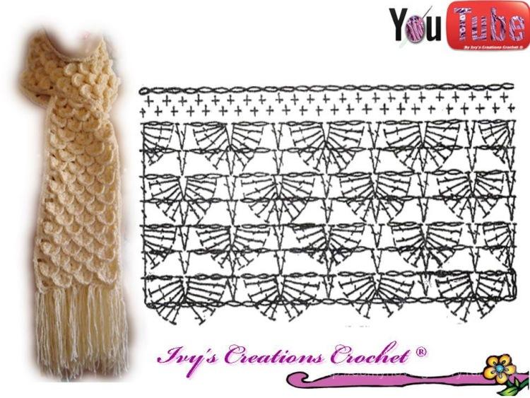 Схемы вязанья с кожей
