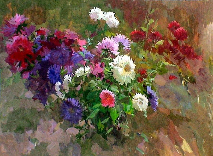 Картинки гуашью цветы 3