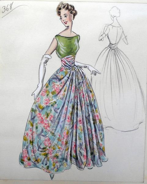 Эскизы платьев, фото