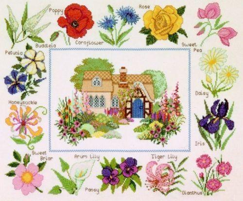 """Схема вышивки  """"Мини-вышивки """": таблица цветов."""