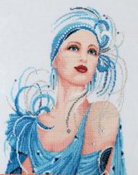 """Схема -  """"Turquoise Majesty """", фото 1 - Схемы для вышивания крестиком."""